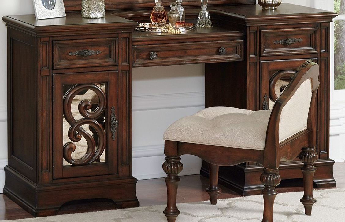 Ilana Antique Java Vanity Desk Media Gallery