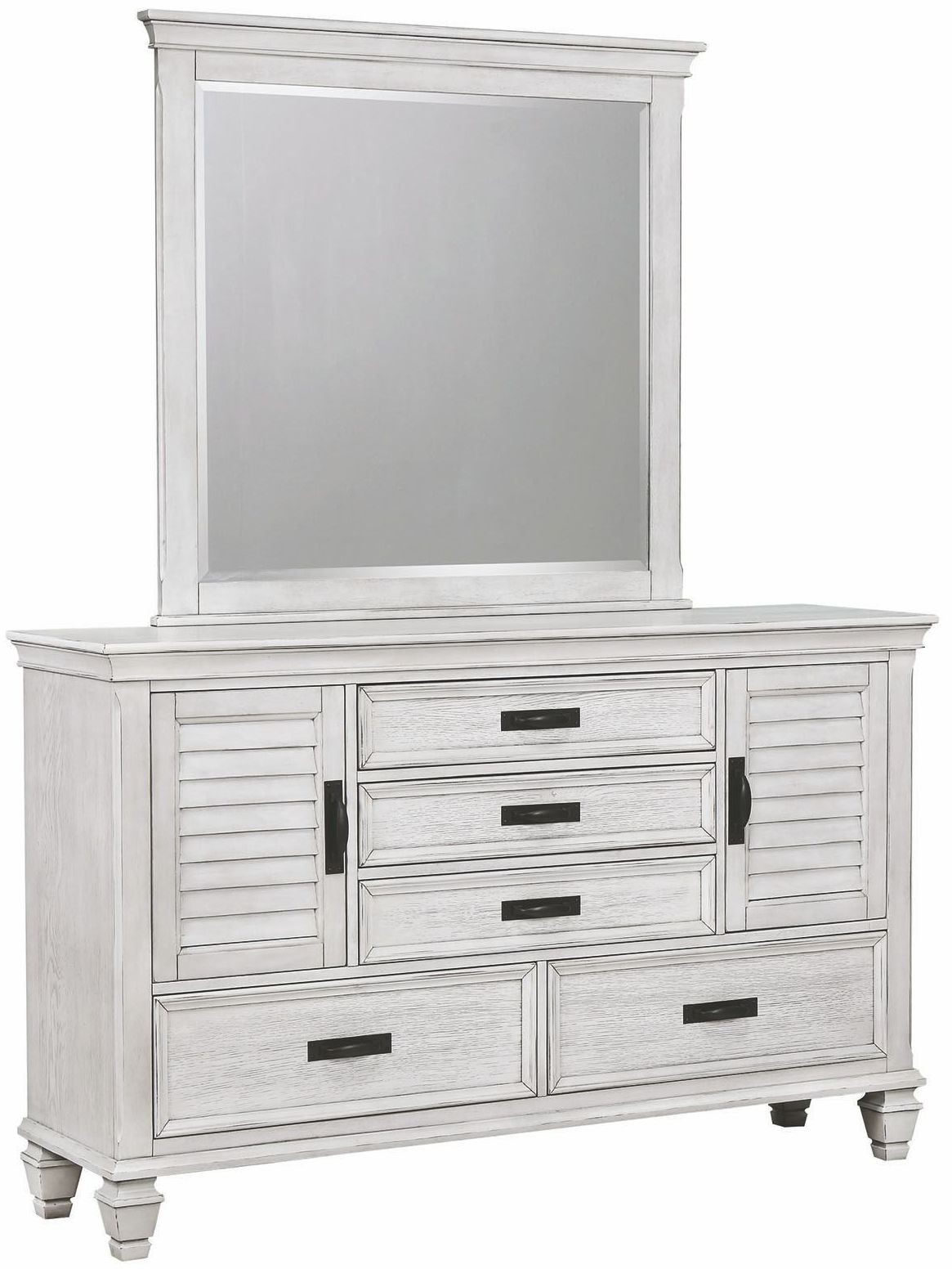 Liza Antique White Panel Bedroom Set
