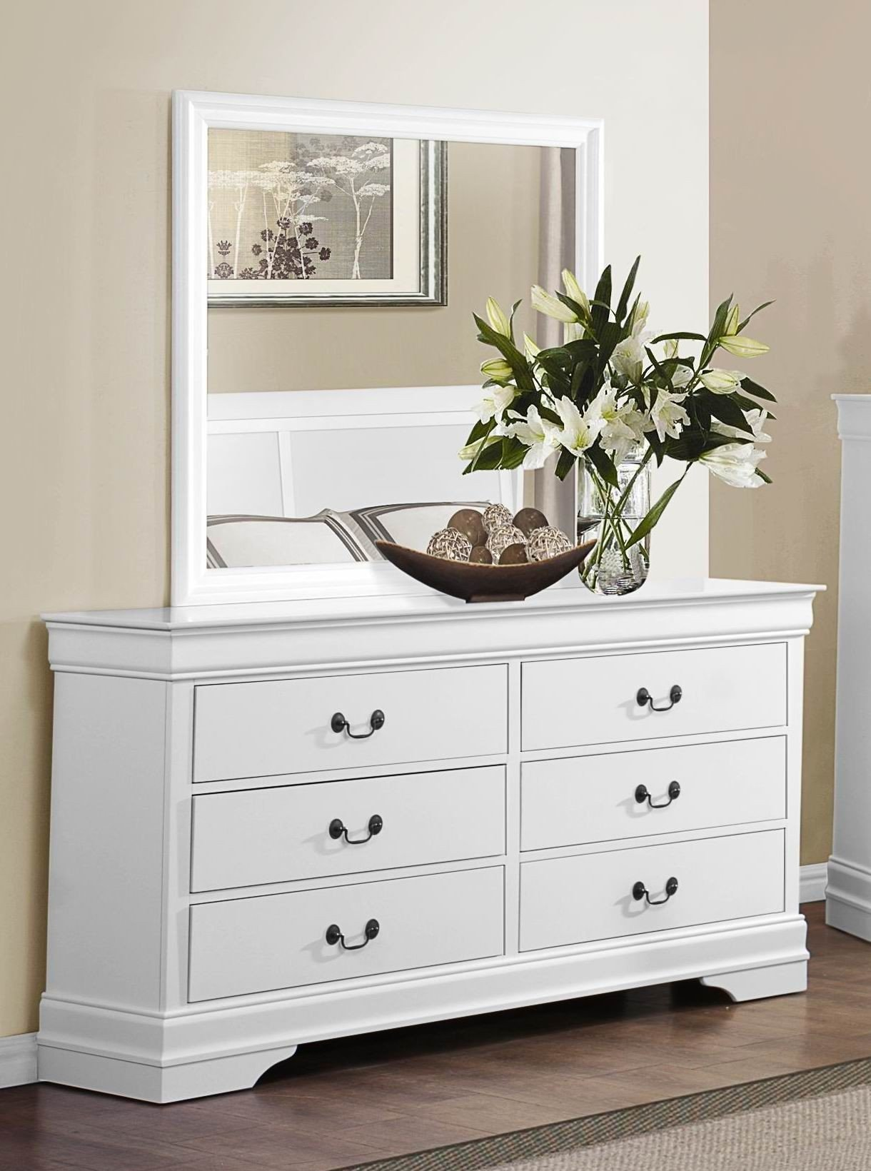 Mayville burnished white sleigh bedroom set 1stopbedrooms - Bedroom furniture sets buy now pay later ...