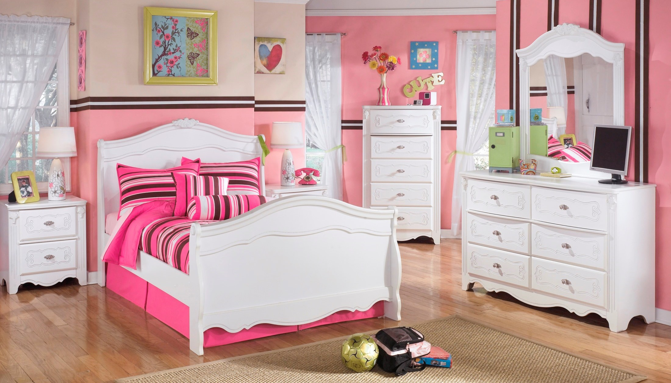 signature design by ashley exquisite youth sleigh bedroom 11523 | 21 32