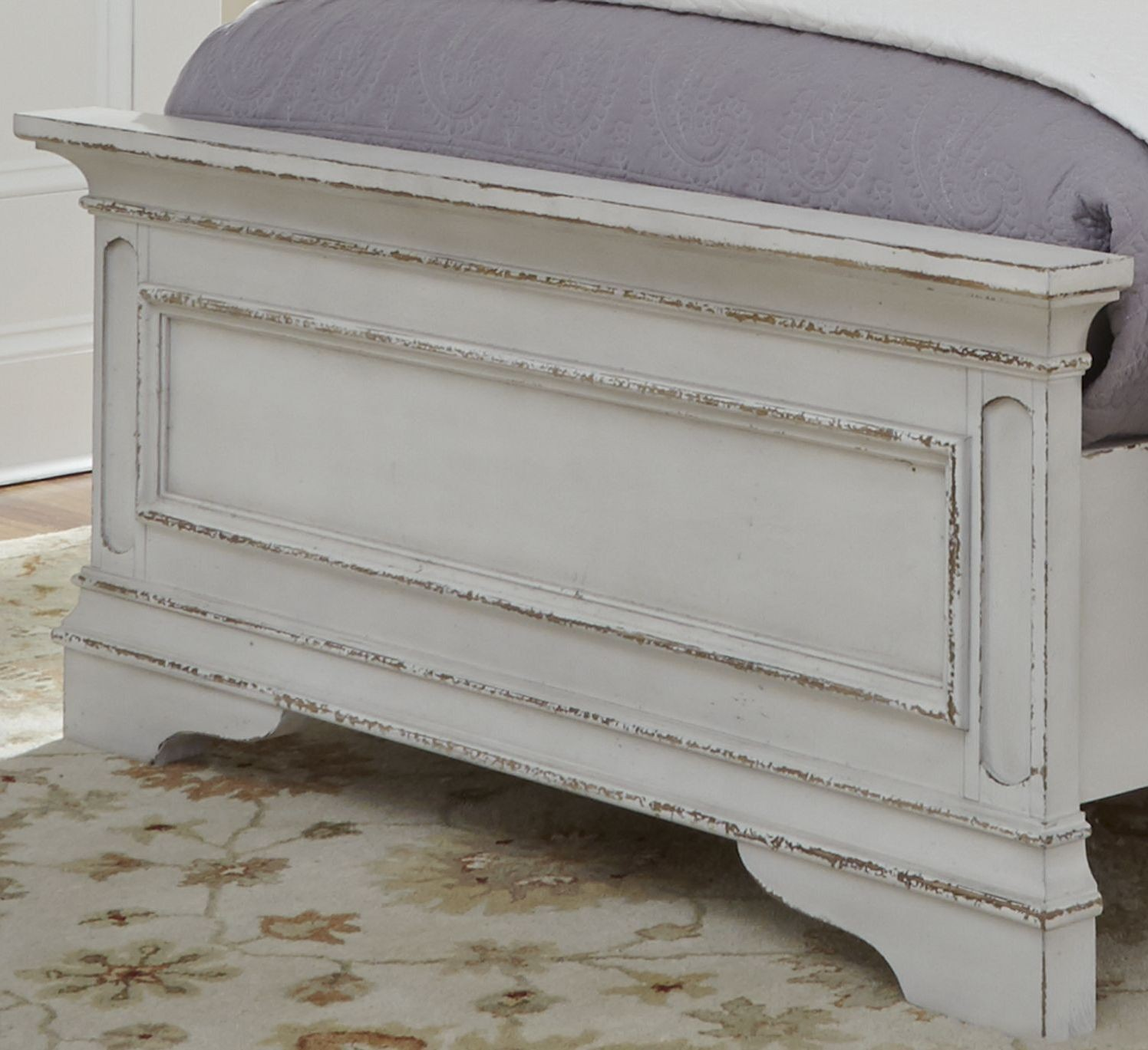 Magnolia Manor Antique White Youth Upholstered Panel