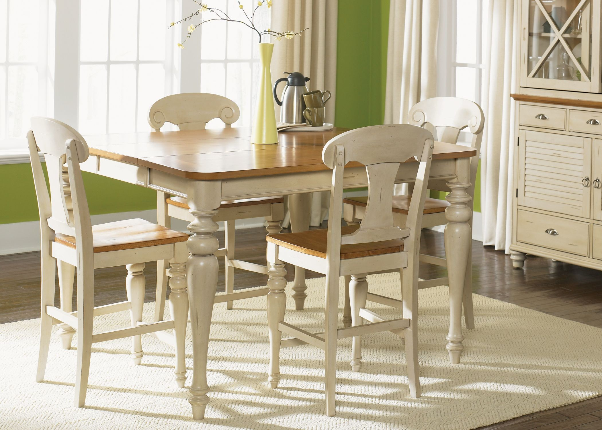 Ocean Isle Bisque Gathering Dining Room Set 1stopbedrooms