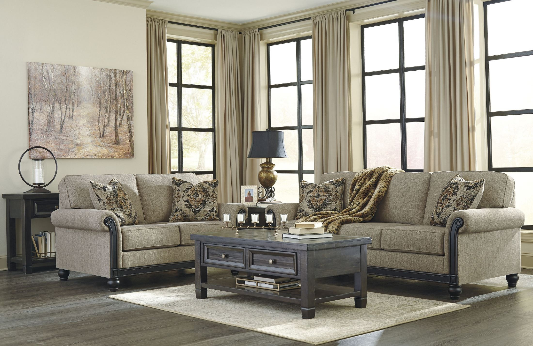 Blackwood Taupe Sofa 1stopbedrooms
