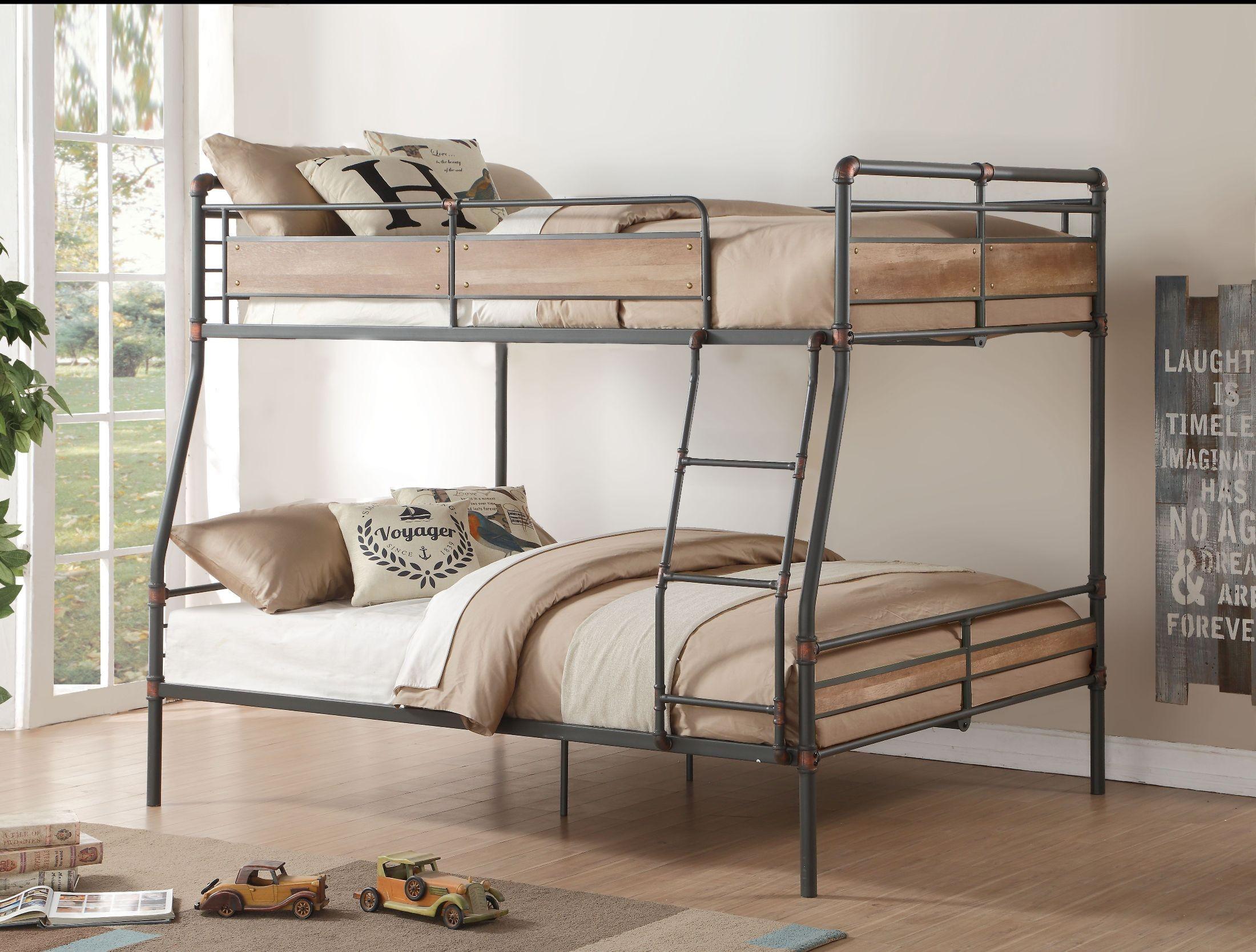 Picture of: Brantley Ii Sandy Black Full Xl Over Queen Bunk Bed 1stopbedrooms