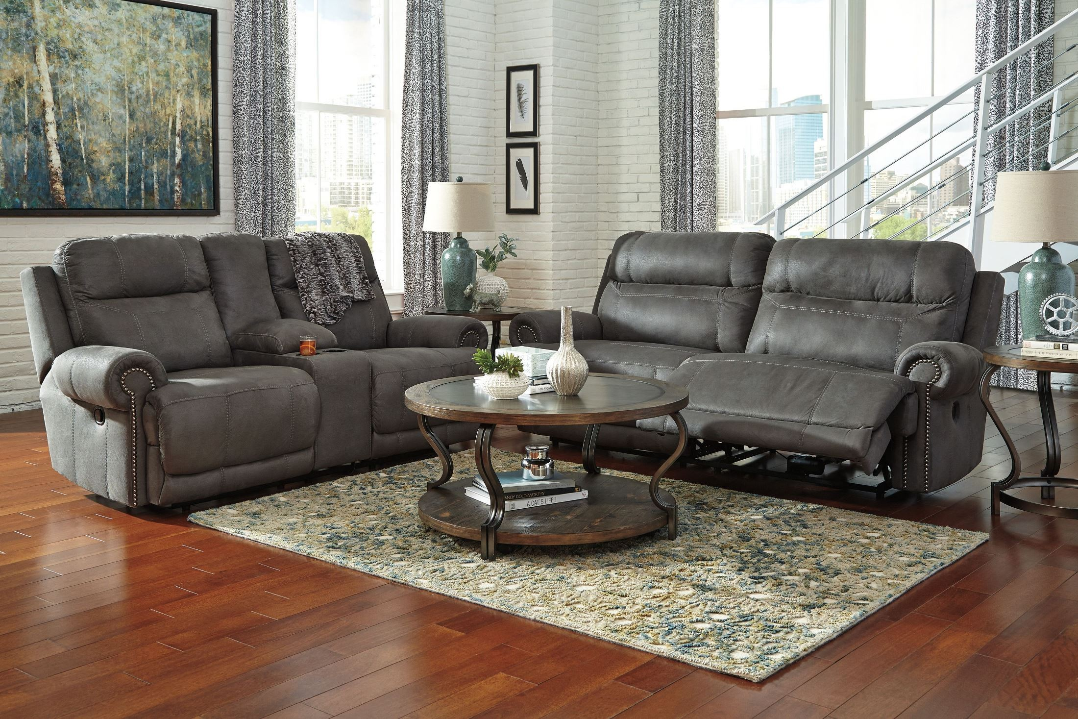 Austere Gray Zero Wall Wide Seat Recliner 1stopbedrooms
