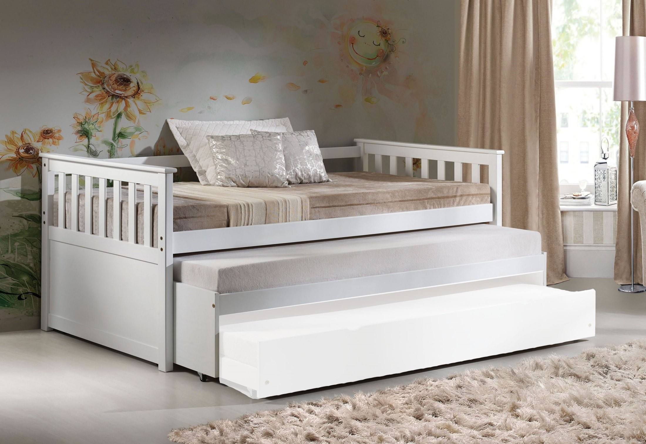 Cominia White Daybed With Pull Out Bed 1stopbedrooms