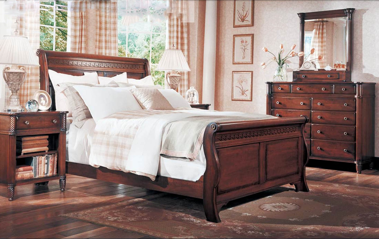 Durham Furniture Mount Vernon Architect Sleigh Bedroom Set In Vernon