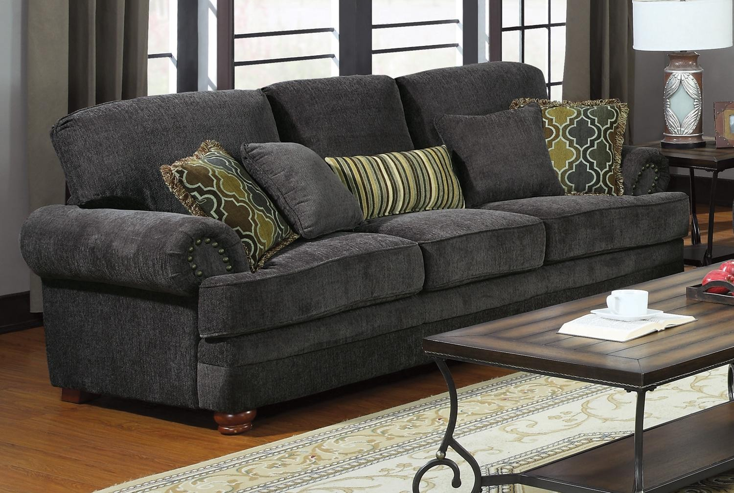 Coaster Colton Grey Living Room Set