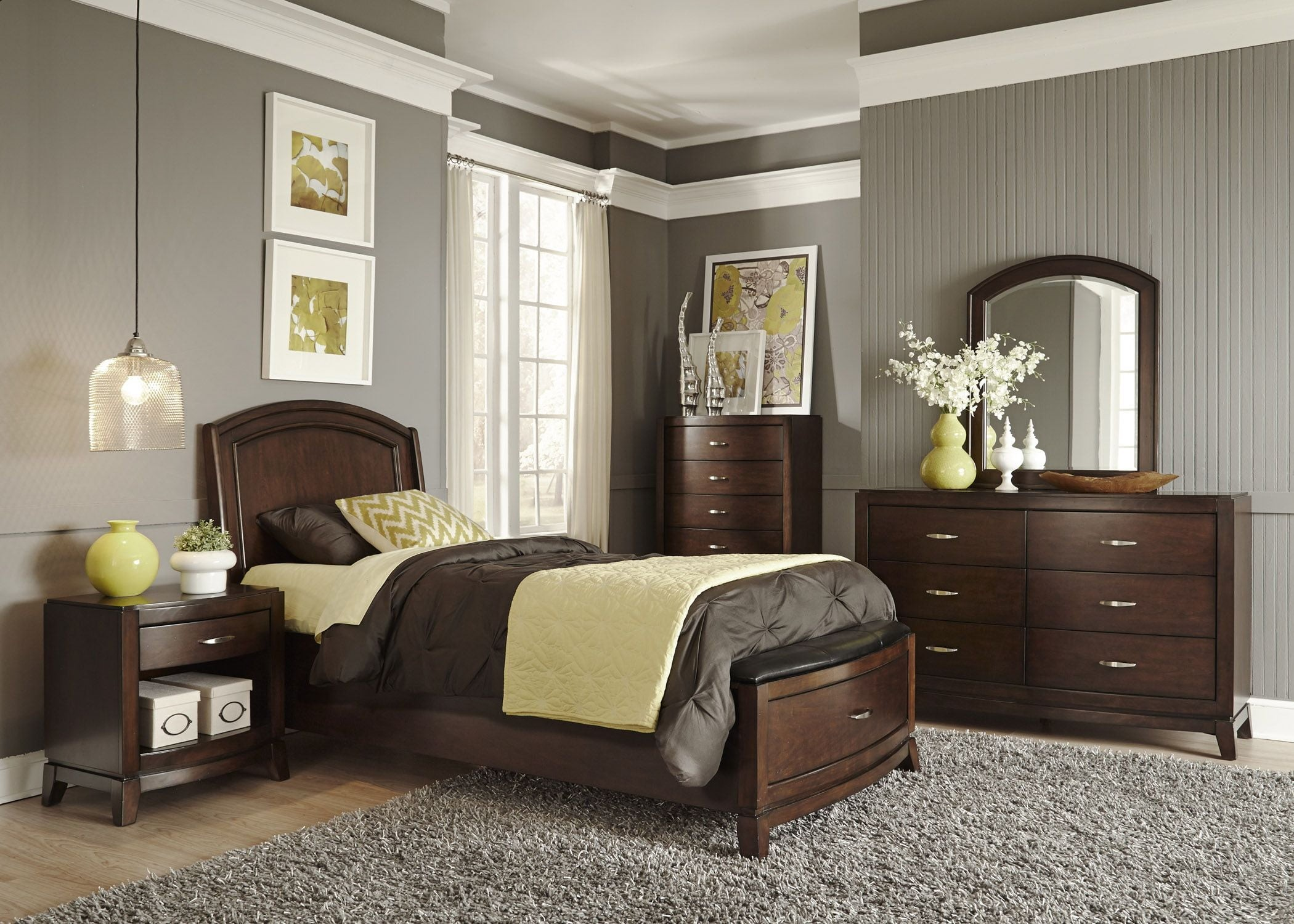 Avalon Truffle Youth Leather Storage Bedroom Set Media Gallery