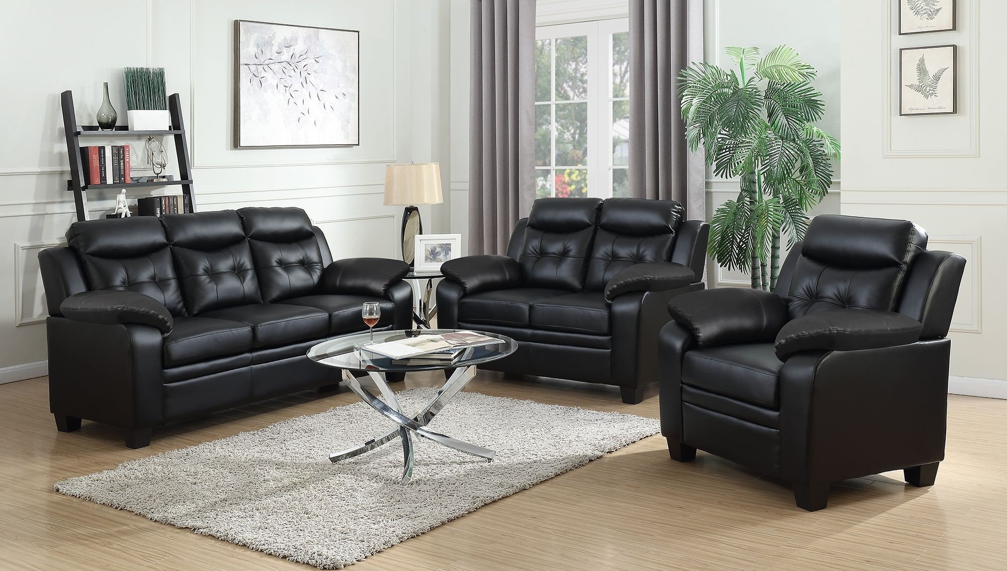 Finley Black Living Room Set