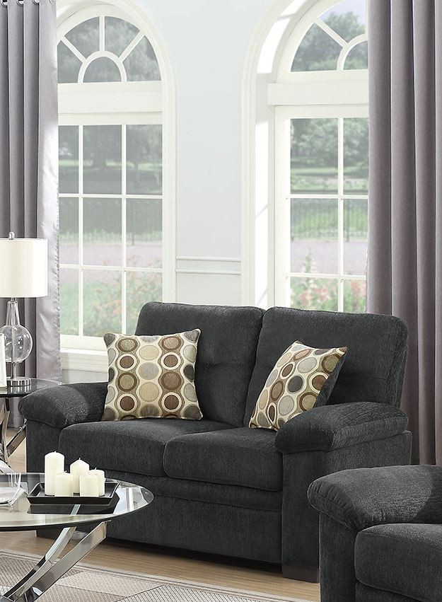 Coaster FairBairn Charcoal Living Room Set