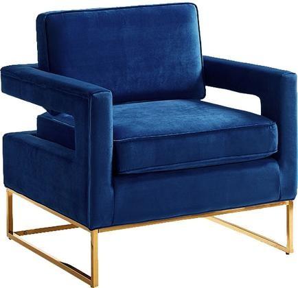 Meridian 511black Noah Series Armchair Velvet Wood And