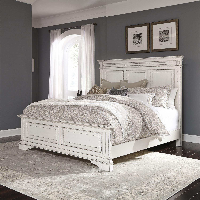Abbey Park Antique White Panel Bedroom Set