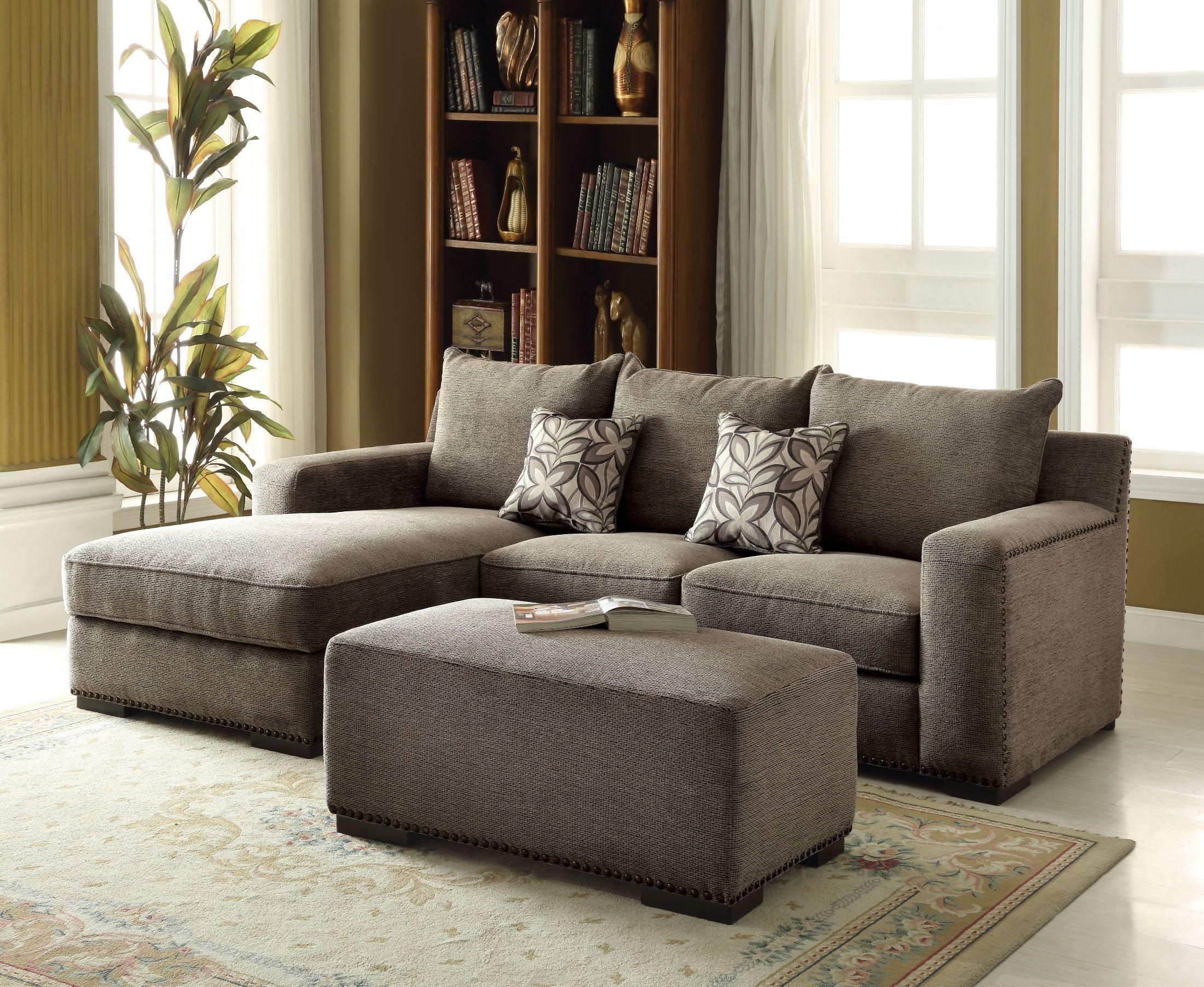 Ushury Gray Chenille Sectional Sofa 1stopbedrooms