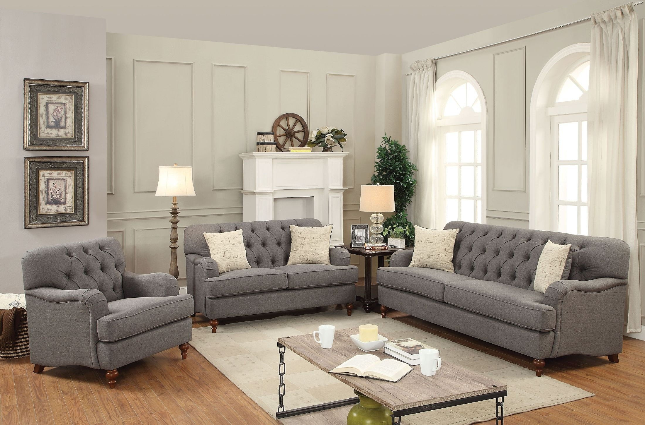 Alianza Dark Gray Living Room Set