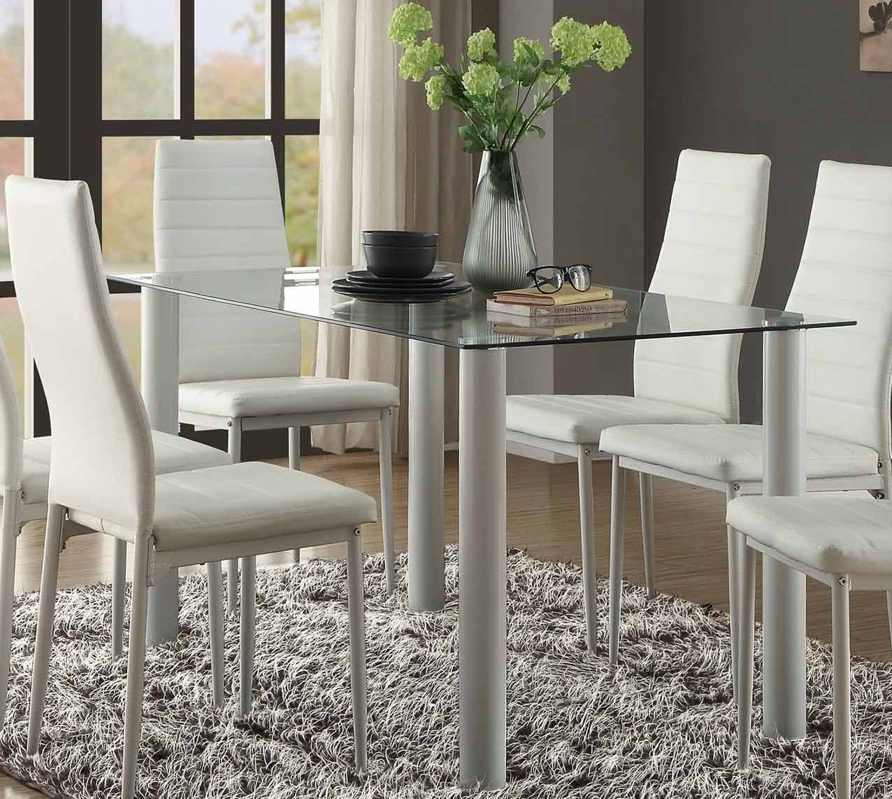 Florian White Dining Room Set 1stopbedrooms