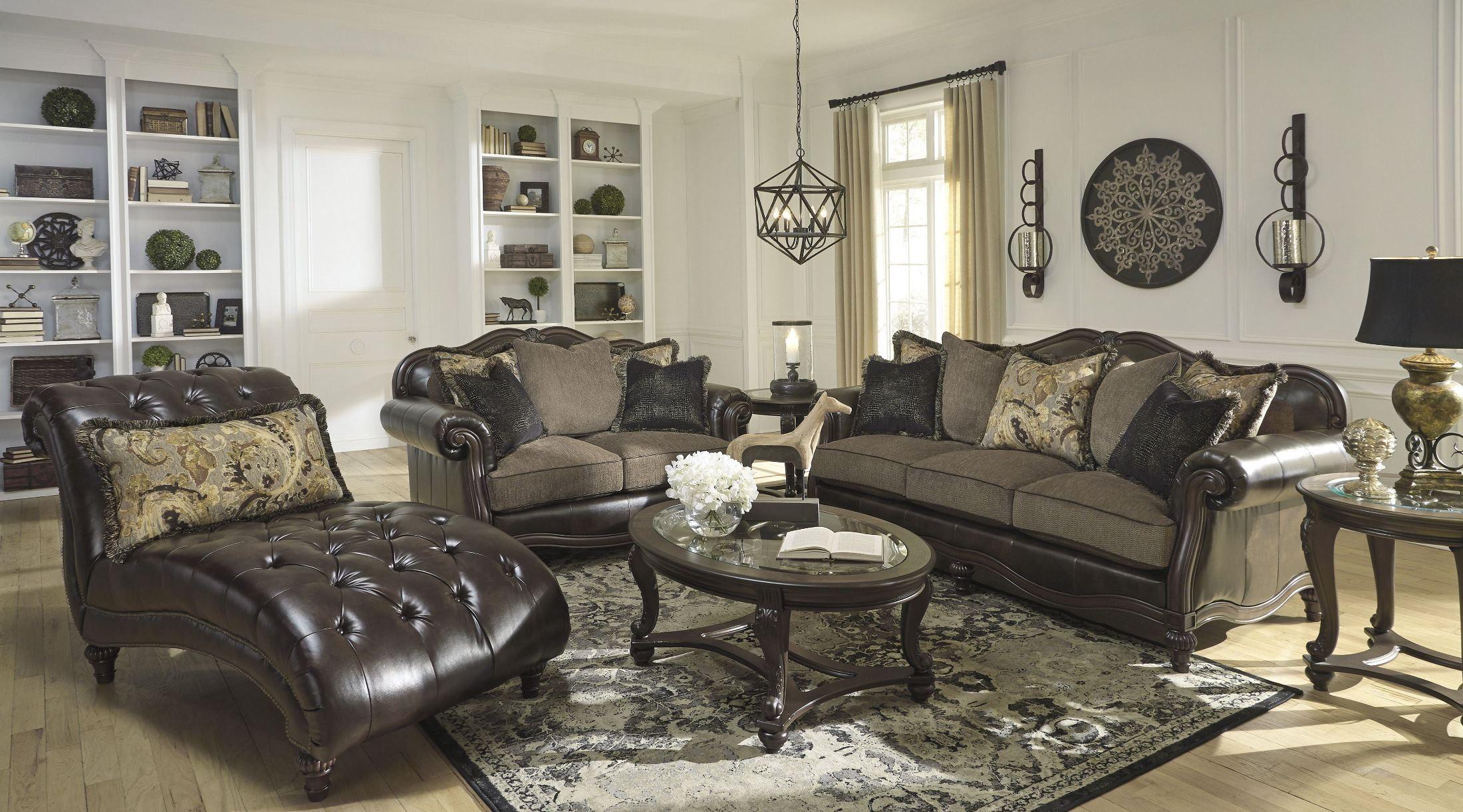 Winnsboro DuraBlend Vintage Living Room Set Media Gallery