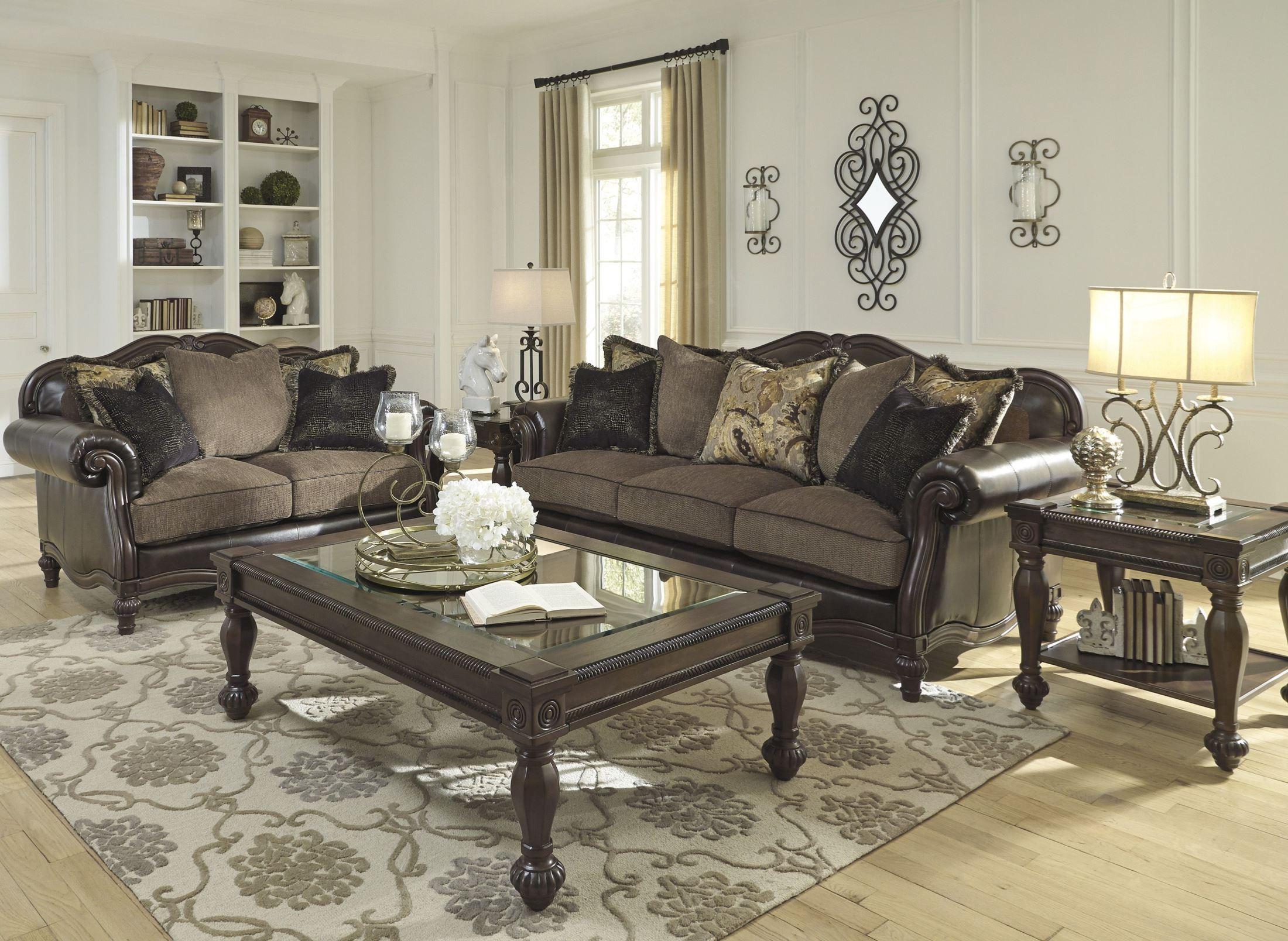 Winnsboro DuraBlend Vintage Living Room Set Media Gallery 1