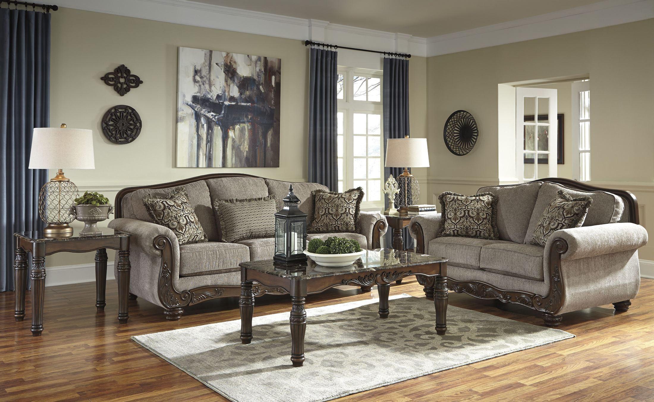 Cecilyn Cocoa Living Room Set Media Gallery