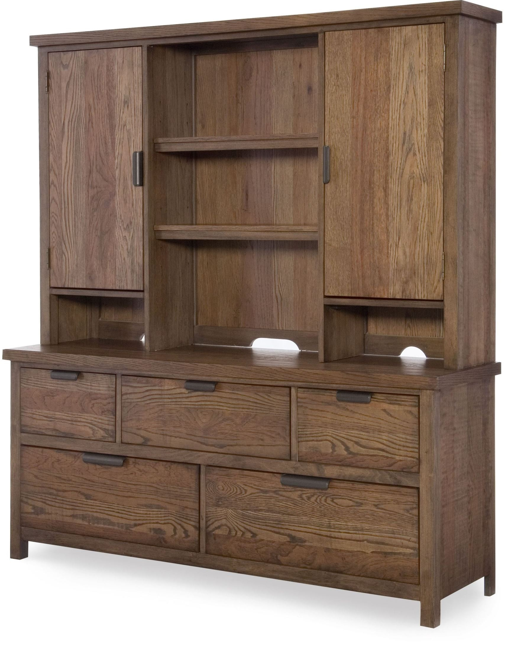 Fulton County Tawny Brown Bookcase Lounge Bedroom Set