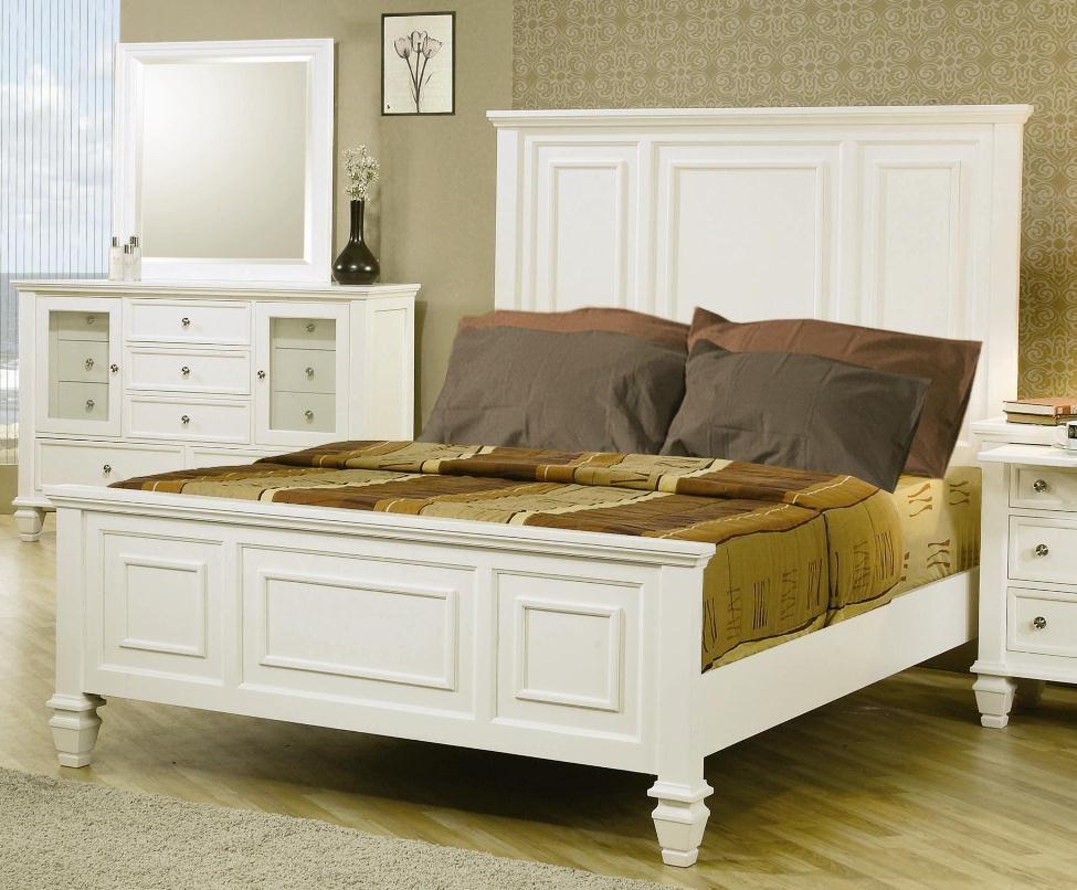 Coaster Sandy Beach White Panel Bedroom Set