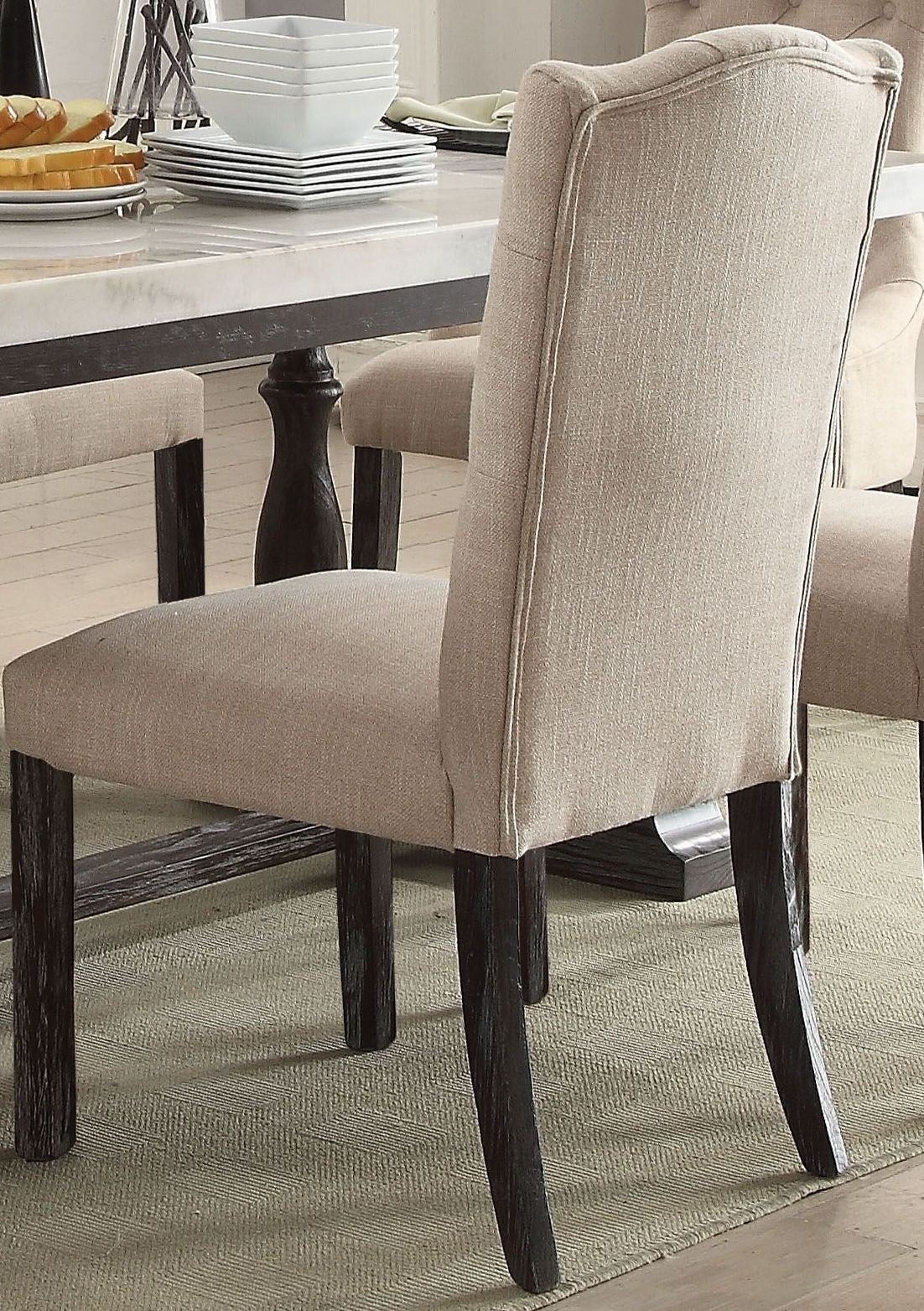 Gerardo White Marble And Weathered Espresso Dining Room