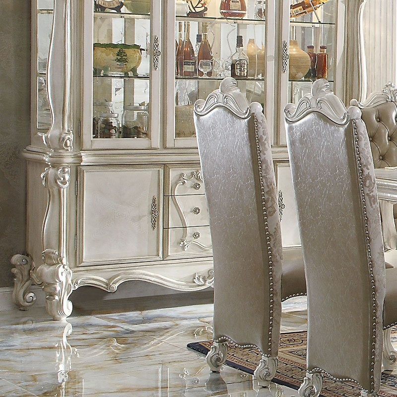High End Dining Room Furniture Brands: ACME Versailles Counter Height Dining Room Set (Bone White)