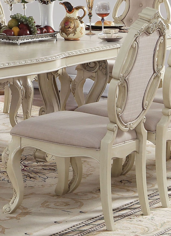 Ragenardus Antique White Double Pedestal Dining Room Set