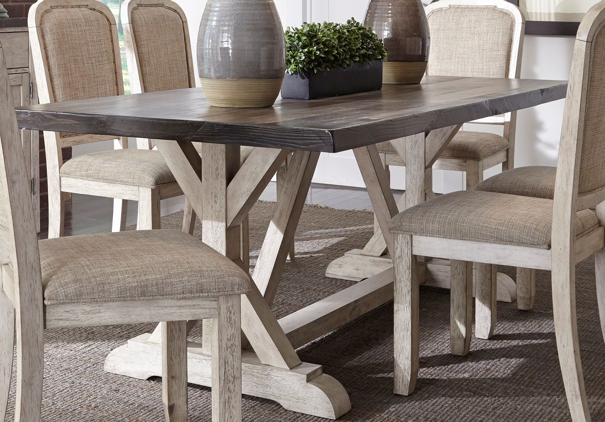 Gray And White Dining Table
