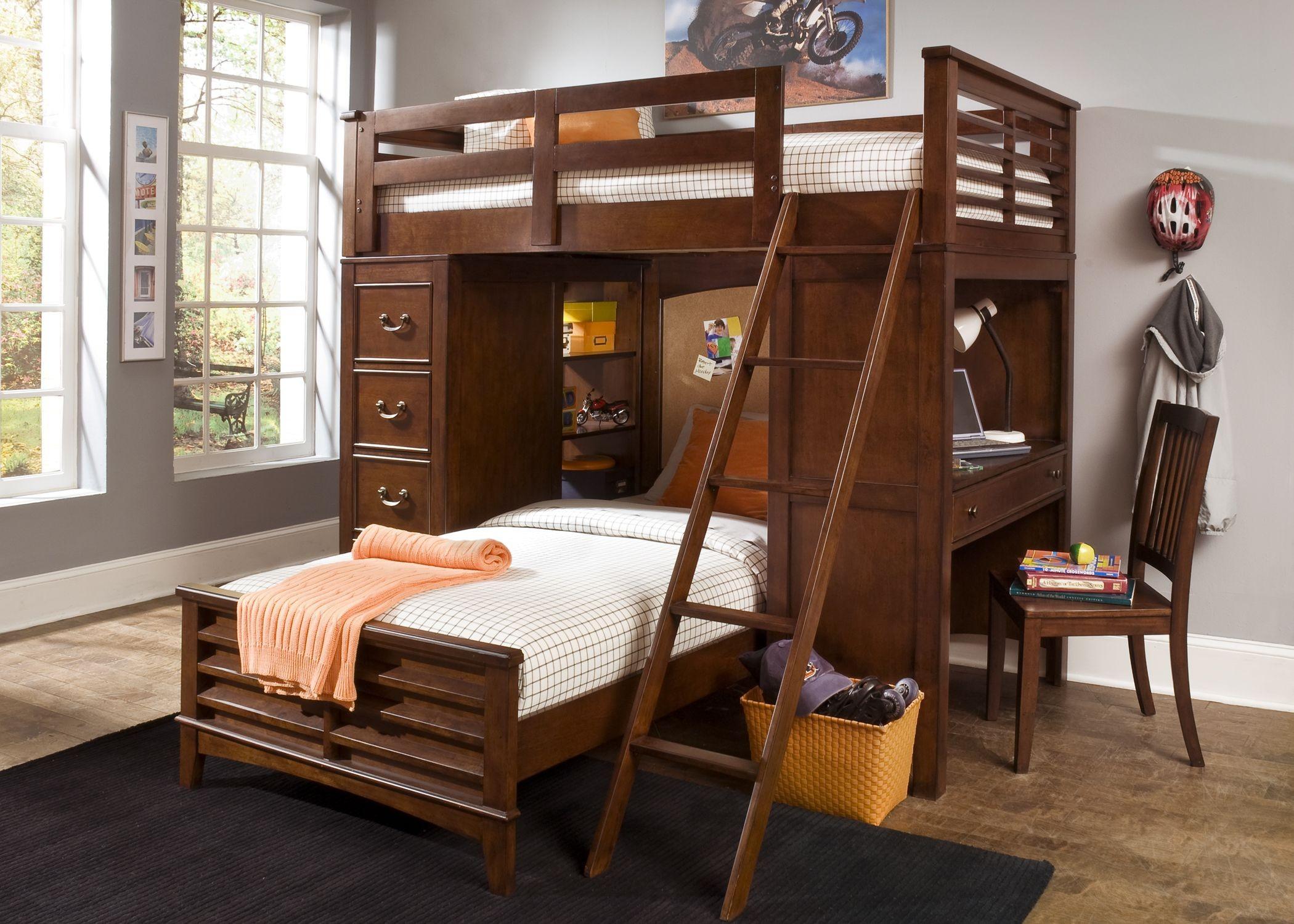 online retailer 4ef65 e82c0 Chelsea Square Youth Loft Bed with Cork Bedroom Set