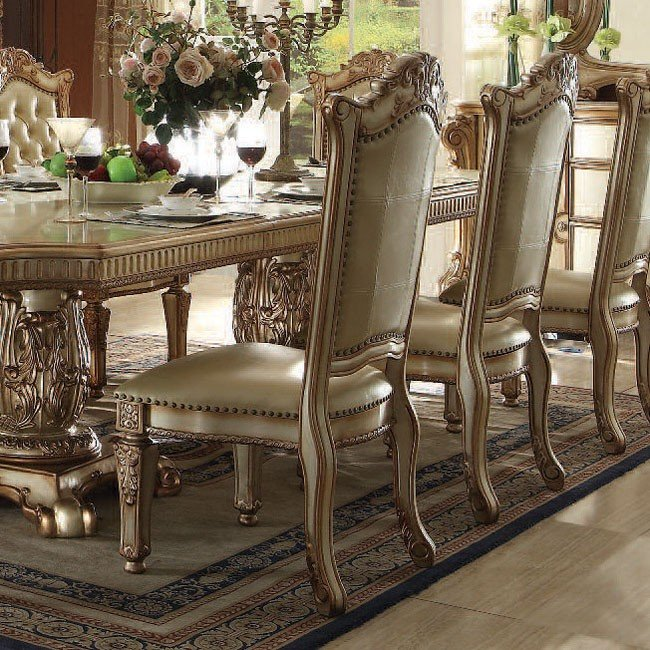 One Dining Room Three Different Ways: Vendome Dining Room Set (Gold Patina)