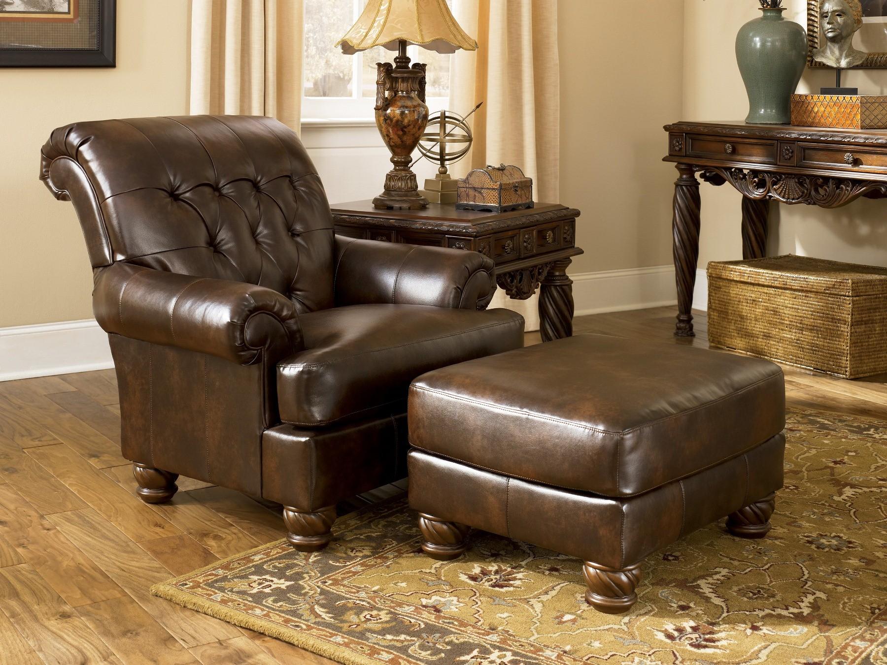 Fresco DuraBlend Antique Sofa & Chair Living Room Set ...