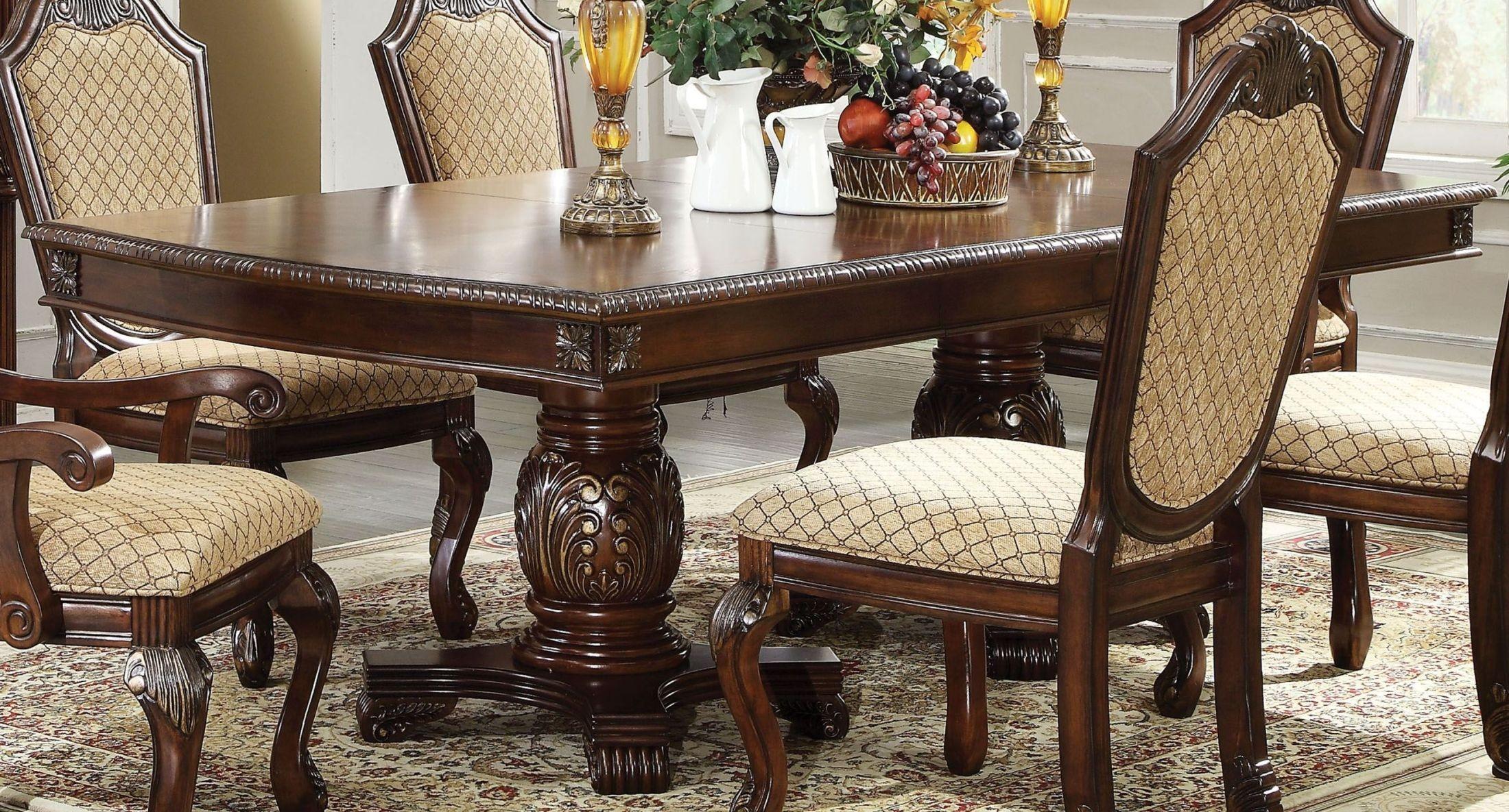 Chateau De Ville Espresso Double Pedestal Dining Room Set