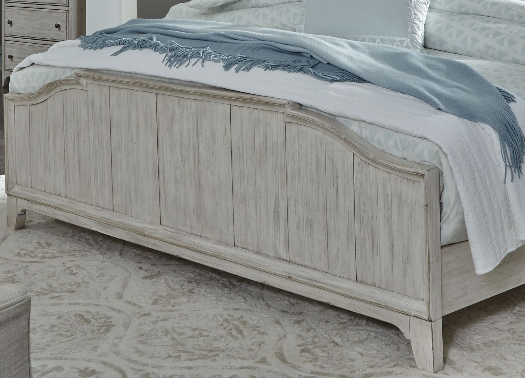 Farmhouse Reimagined Antique White King Panel Bed ...