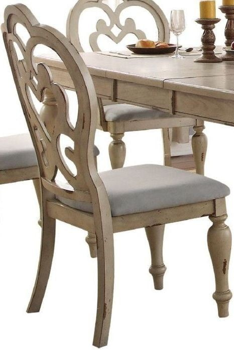 Abelin Antique White Rectangular Dining Room Set
