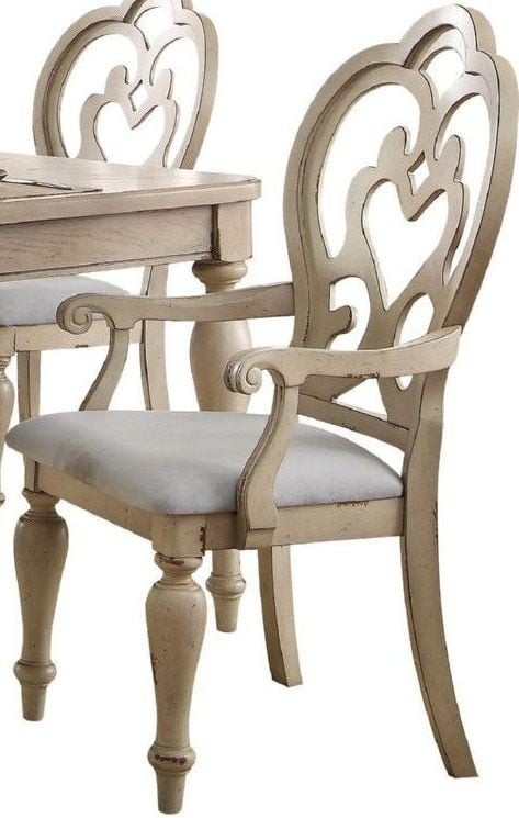 Antique White Dining Room Furniture: Abelin Antique White Rectangular Dining Room Set