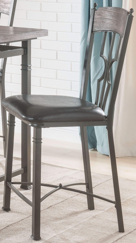 Enjoyable Lynlee Espresso Dark Bronze Counter Height Chair Set Of 2 Forskolin Free Trial Chair Design Images Forskolin Free Trialorg
