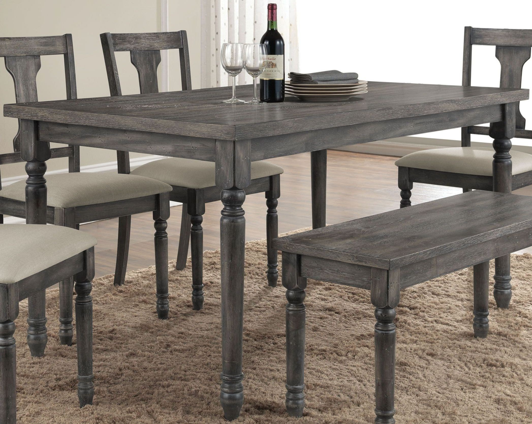 Wallace Weathered Gray Dining Room Set