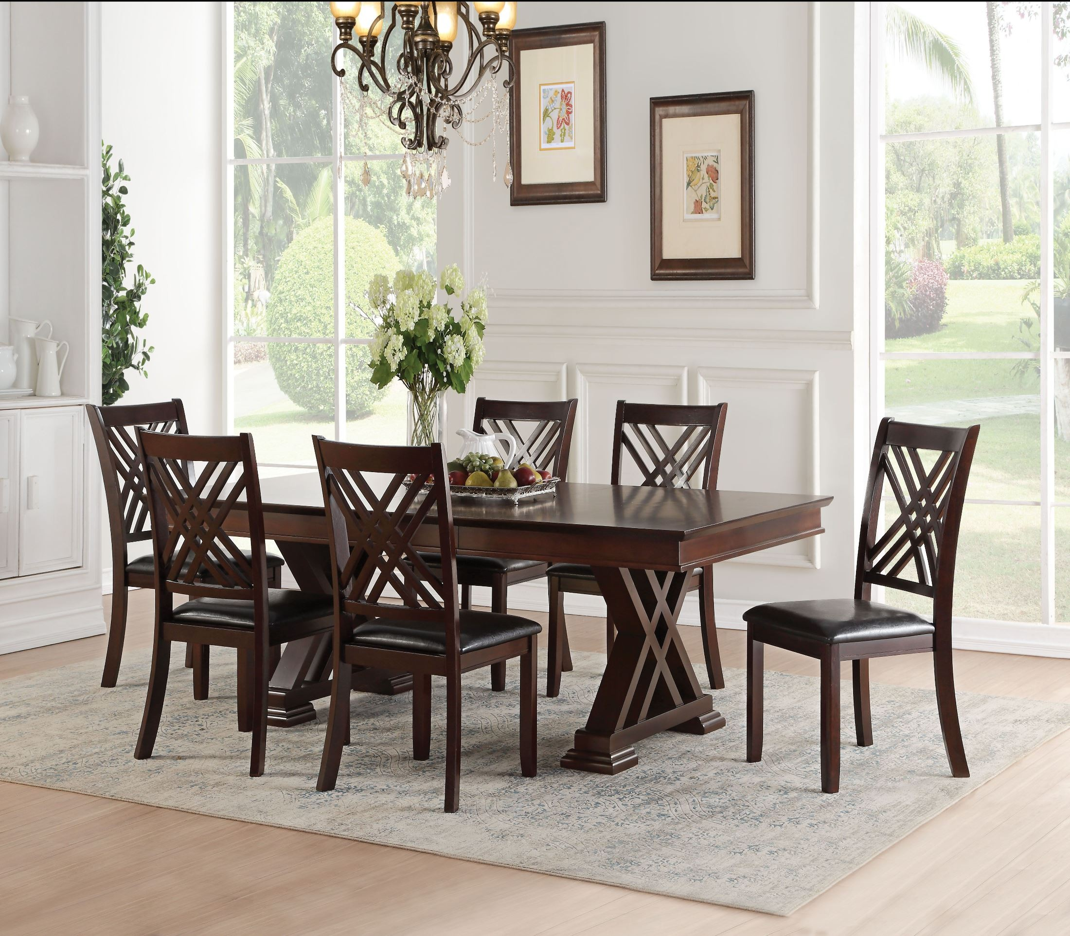 Acme Katrien Espresso Dining Room Set Katrien Collection 6