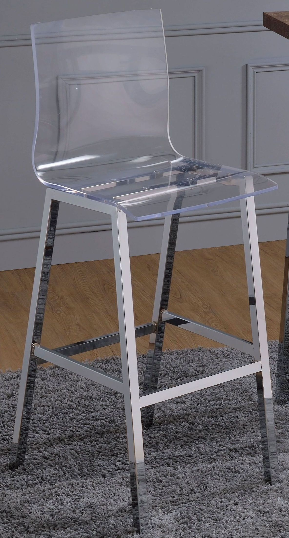 Picture of: Nadie Clear Acrylic Bar Chair Set Of 2 1stopbedrooms