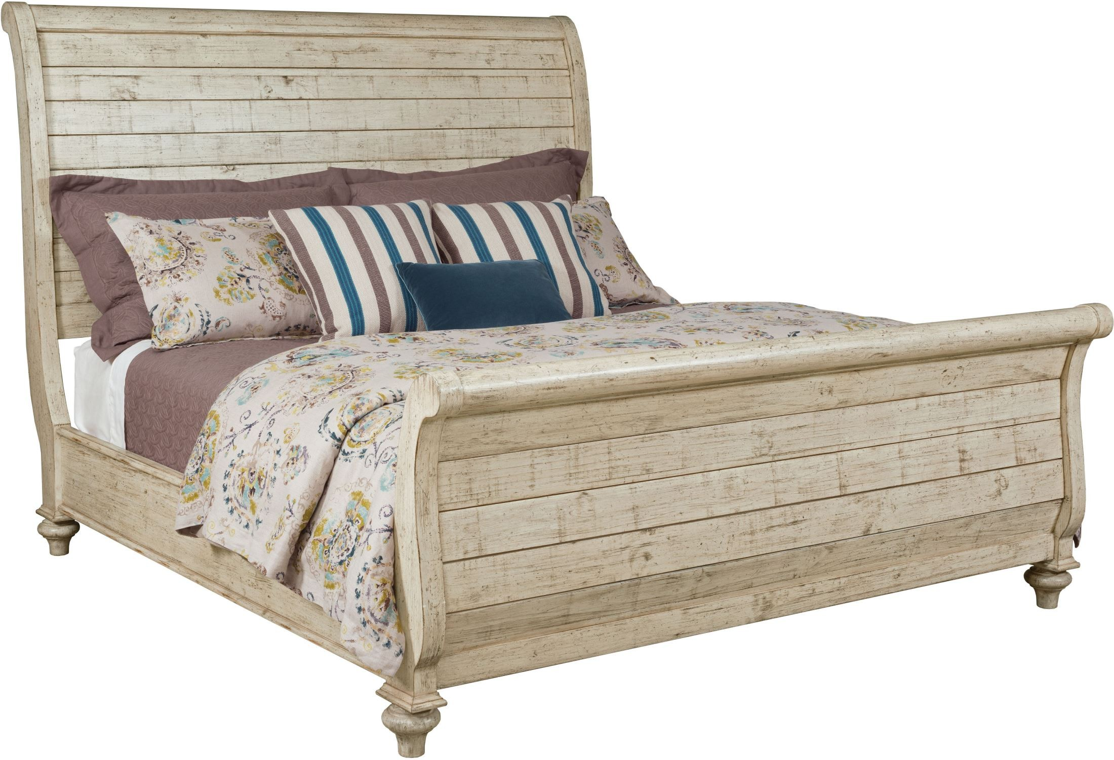 Weatherford Cornsilk Lynton King Sleigh Bed 1stopbedrooms