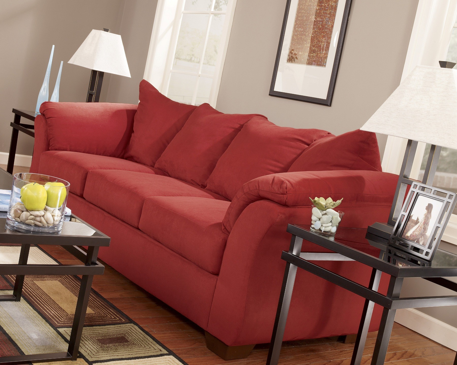 Darcy Red Salsa Sofa 1stopbedrooms
