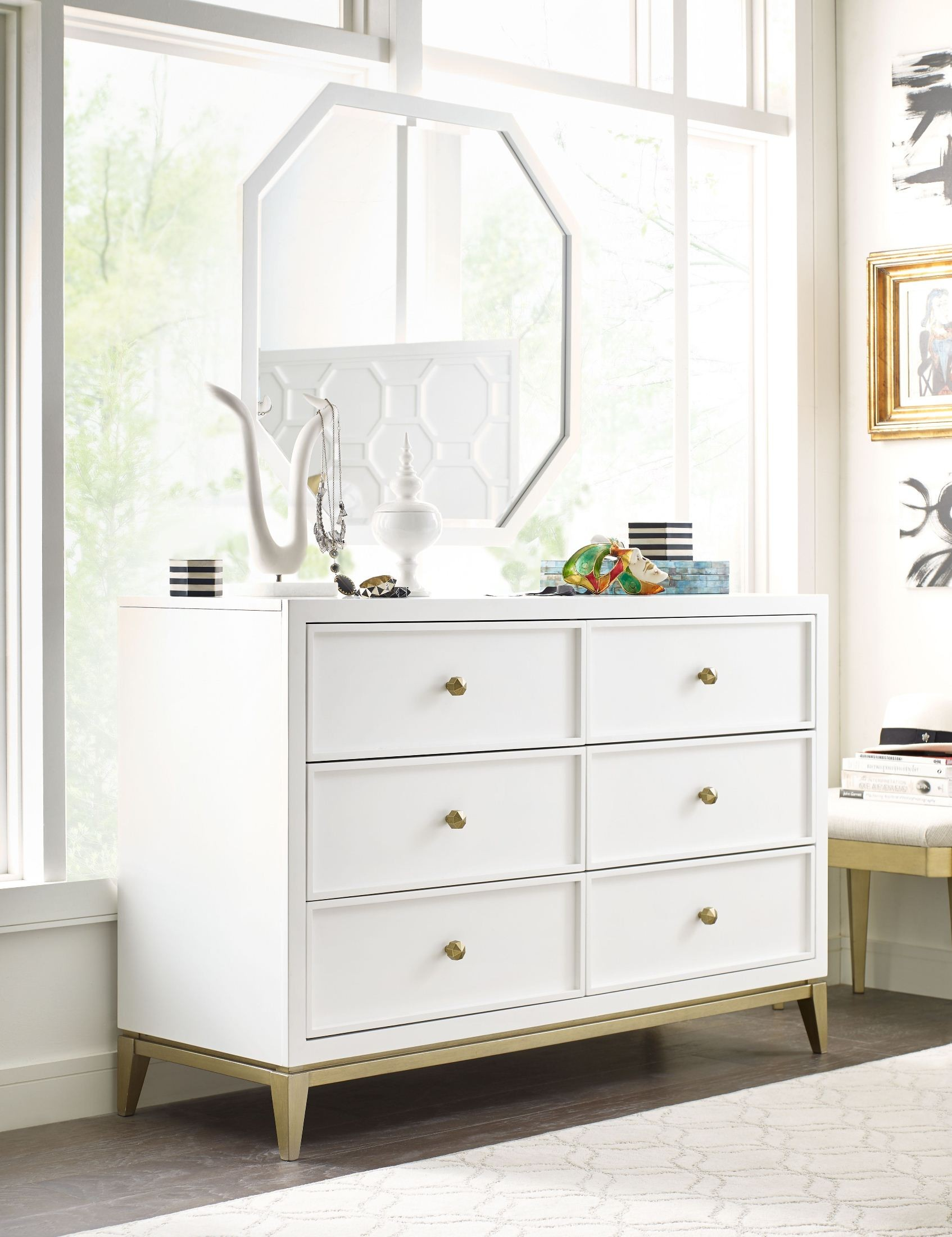 Legacy classic uptown white and gold youth panel bedroom - White and gold bedroom furniture set ...