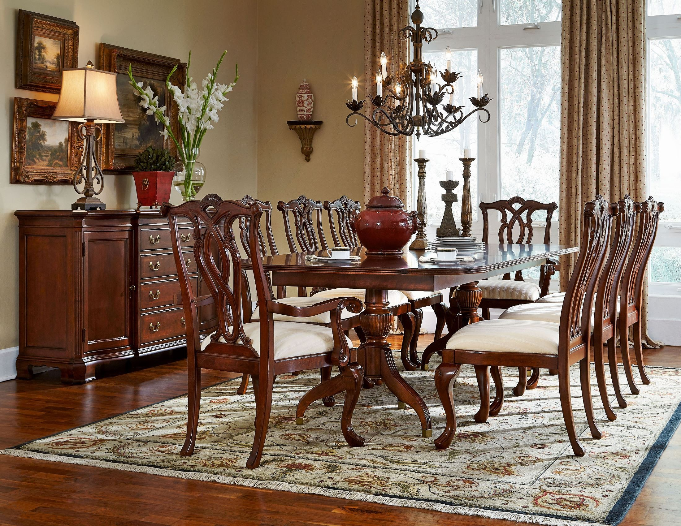 antique dining room sets cherry grove classic antique cherry pedestal dining room set 1stopbedrooms 9285