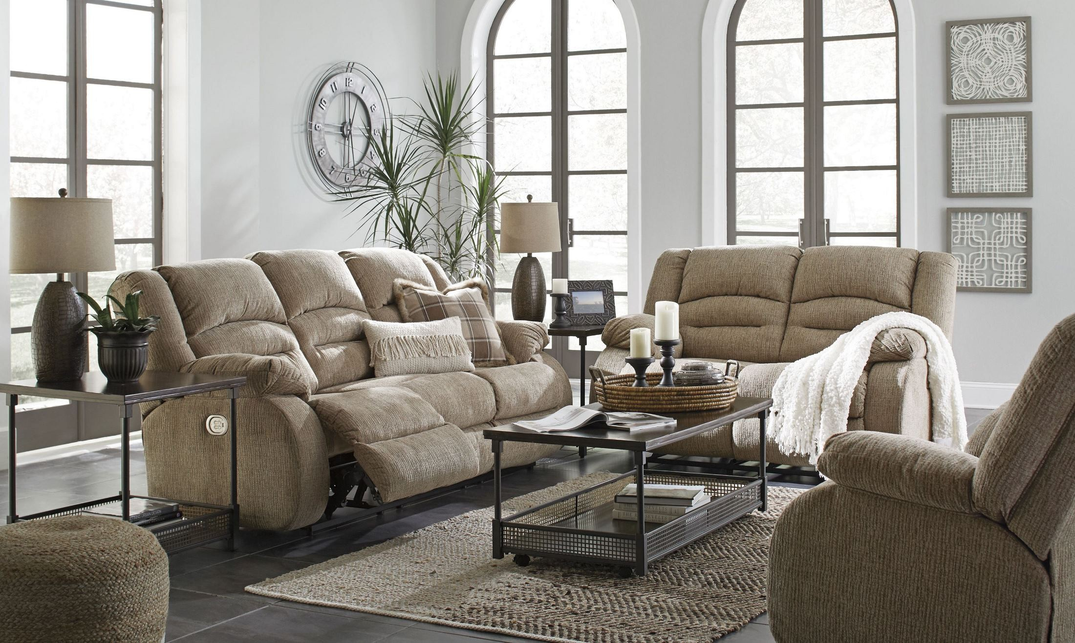 Signature Design By Ashley Labarre Mocha Power Reclining