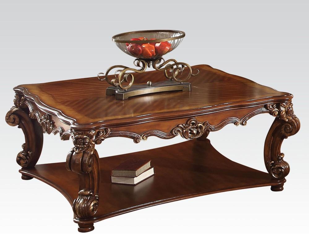 Acme vendome square coffee table in cherry 82002