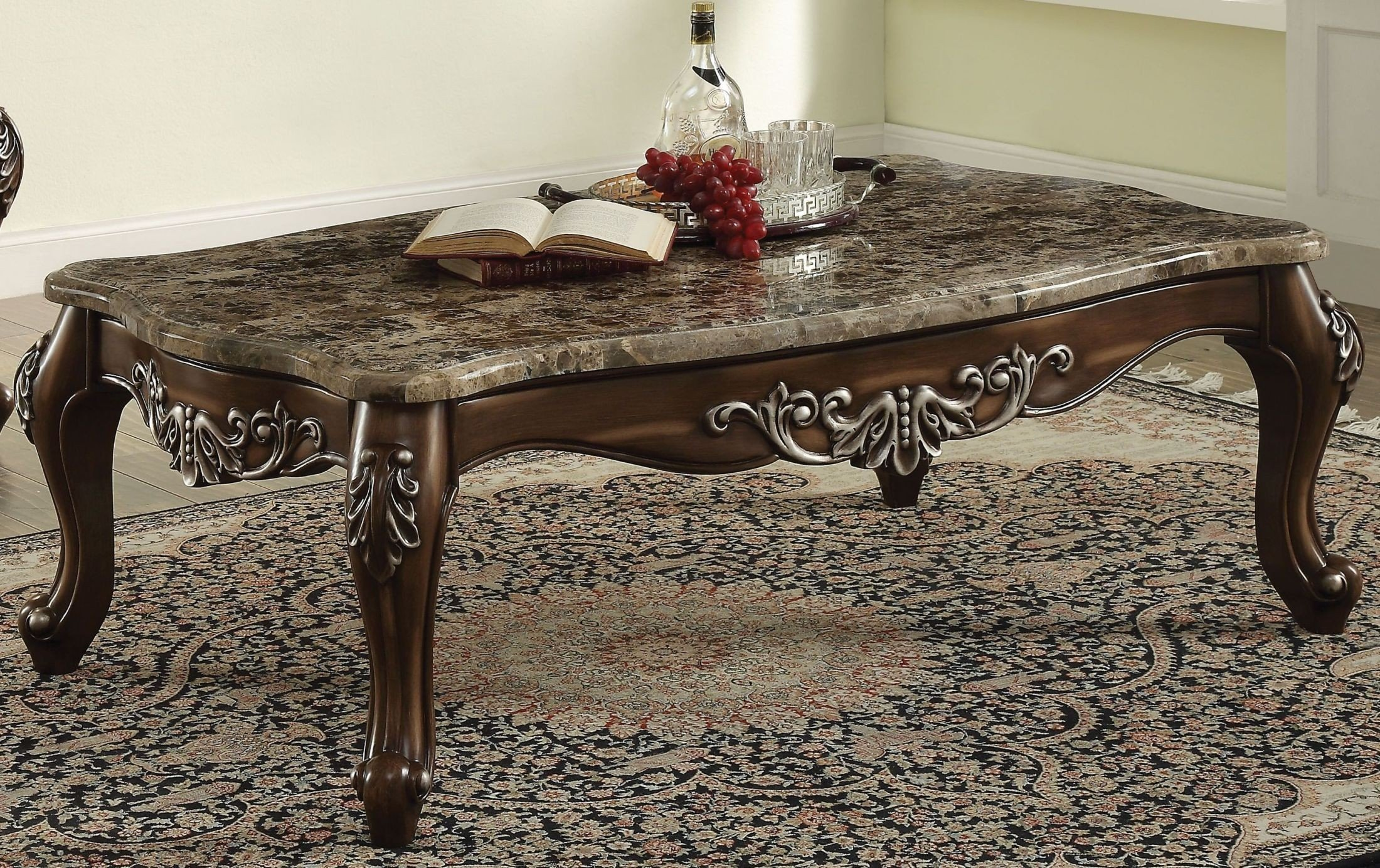 Picture of: Latisha Marble And Antique Oak Coffee Table 1stopbedrooms