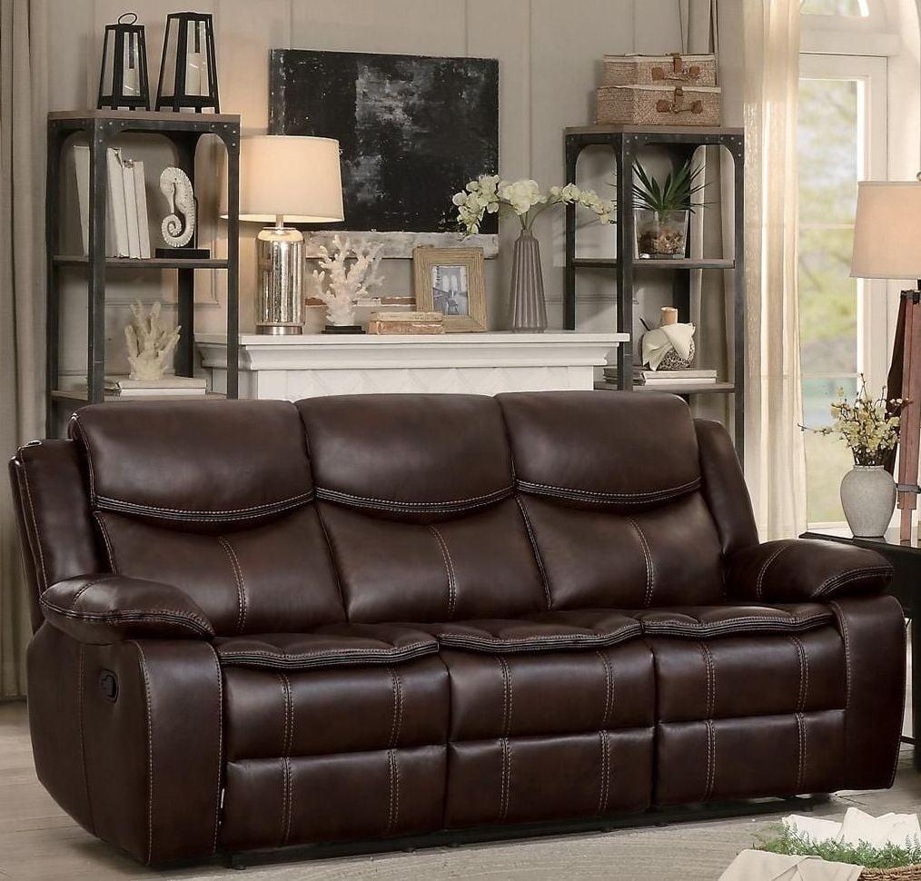 Homelegance Bastrop Brown Leather Reclining Living Room