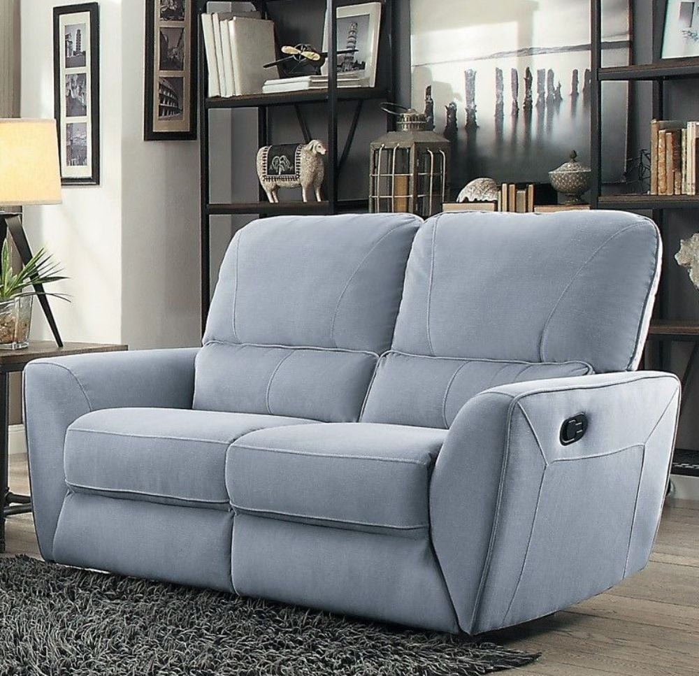 Amazing Dowling Light Gray Double Reclining Loveseat Gmtry Best Dining Table And Chair Ideas Images Gmtryco