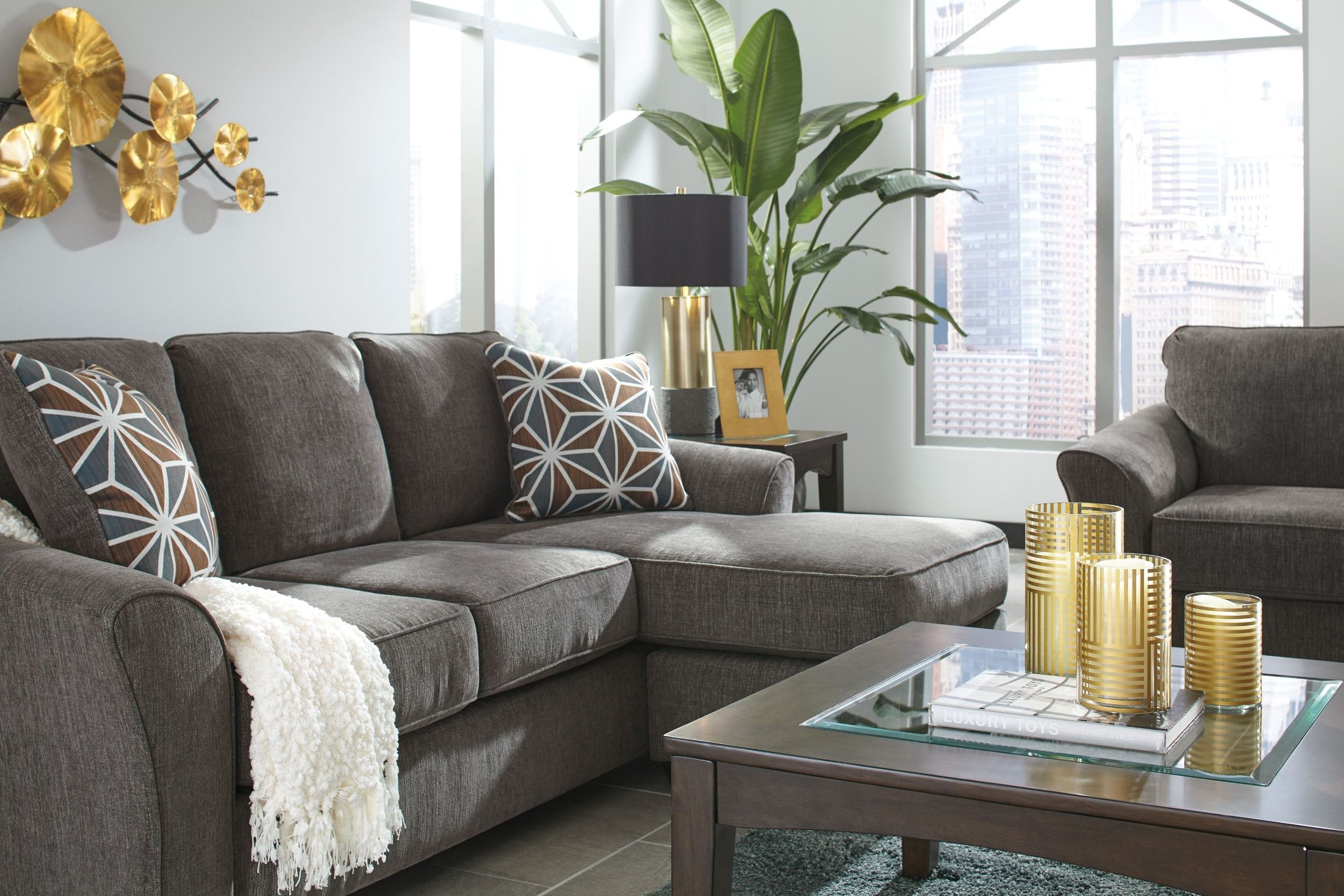 Awe Inspiring Brise Slate Sofa Chaise Caraccident5 Cool Chair Designs And Ideas Caraccident5Info